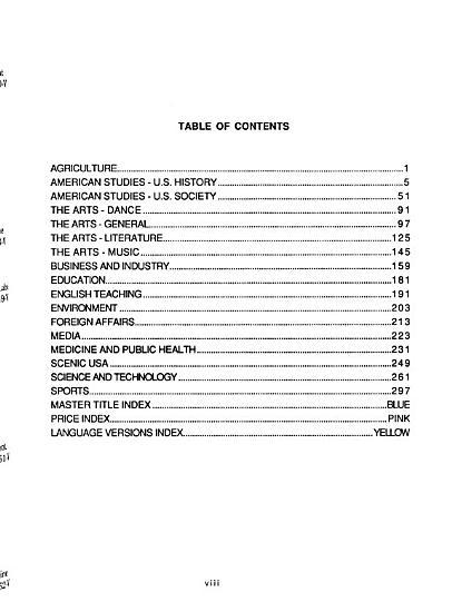 U S I S  Video Library Catalog PDF