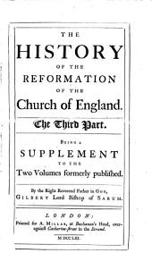 History of the reformation of the Church of England: In two parts, Volume 3