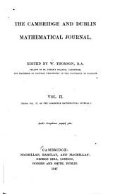 The Cambridge and Dublin Mathematical Journal: Volume 2