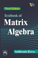 TEXTBOOK OF MATRIX ALGEBRA PDF