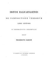 De compositione verborum libri epitome e Germanicis exemplis