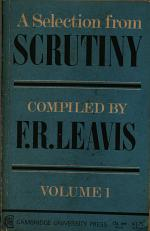 A selection from Scrutiny : in two volumes. 1 (1968)