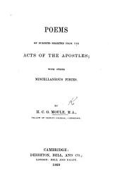 Poems on subjects selected from the Acts of the Apostles; with other miscellaneous pieces