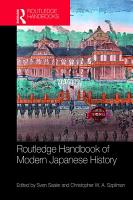 Routledge Handbook of Modern Japanese History PDF