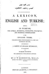 A Lexicon, English and Turkish