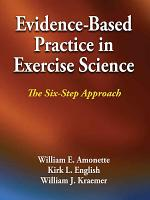 Evidence Based Practice in Exercise Science PDF