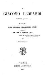 Opere di Giacomo Leopardi ...