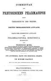 Commentar zur Preussischen pharmacopoe