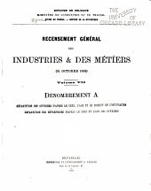 Recensement général des industries & des métiers: (31 octobre 1896).