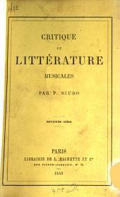 Critique et littérature musicales: Volume2