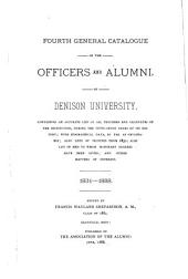 Fourth General Catalogue of the Officers and Alumni of Dennison University ... 1831-1888