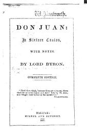 Lord Byron's Don Juan. With life and original notes, by A. Cunningham ... and many illustrations on steel