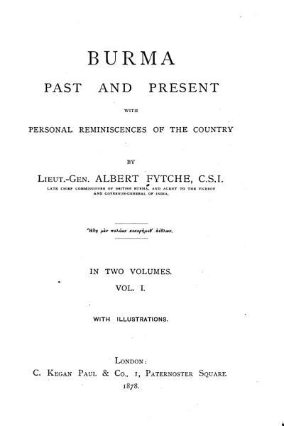 Burma Past and Present PDF