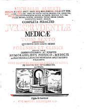Completa Peractio Jvrisprvdentiae Medicae Tomo Sexto Comprehensa Qvo Denvo Novi Casvs Medici Forenses Et Clinici Additis Variis Observationibvs Ac Scriptis Memorabilibvs Physico-Medicis (etc.): 6