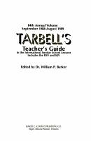 Tarbell s Teacher s Guide PDF