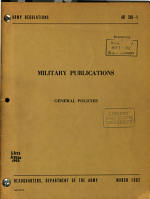 Military Publications; General Policies