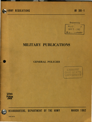 Military Publications  General Policies