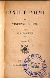 Canti e poemi di Vincenzo Monti: 2