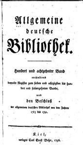 Allgemeine deutsche Bibliothek: Band 118