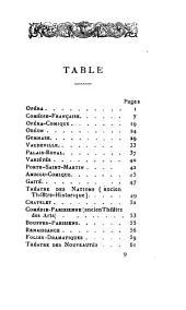 Almanach des spectacles