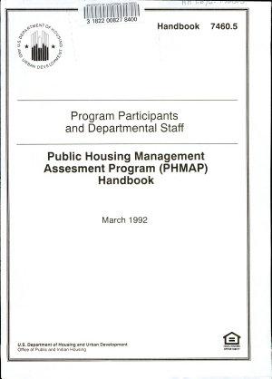 Public Housing Management Assesment  sic  Program  PHMAP  Handbook PDF