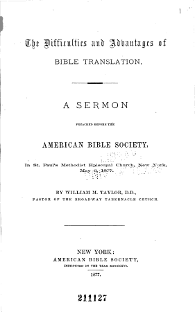 Sixtieth Annual Report of the American Bible Society  Presented May 11  1876 PDF
