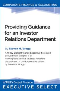 Providing Guidance for an Investor Relations Department PDF