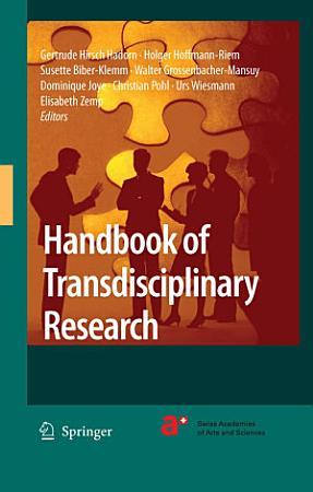 Handbook of Transdisciplinary Research PDF