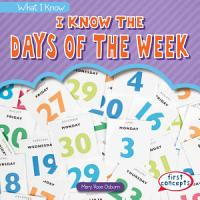 I Know the Days of the Week PDF
