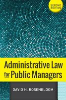 Administrative Law for Public Managers PDF