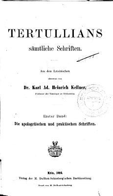 Tertullians s  mtliche Schriften PDF