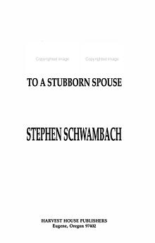 Tough Talk to a Stubborn Spouse PDF