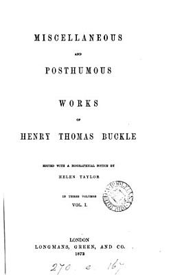 Miscellaneous and posthumous works  ed  by H  Taylor PDF