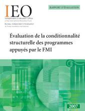 Évaluation de la conditionnalité structurelle des programmes appuyés par le FMI