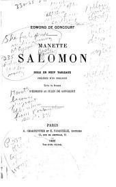 Manette Salomon: pièce en neuf tableaux, précédée d'un prologue