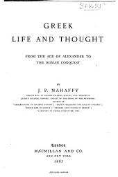 Greek Life and Thought: From the Age of Alexander to the Roman Conquest
