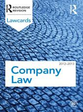 Company Lawcards 2012-2013: Edition 8