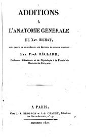 Addition a l'anatomie generale de Xav. Bichat: Volume 5