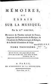 Mémoires, ou Essais sur la musique
