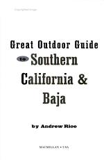 Frommer s Great Outdoor Guide to Southern California   Baja PDF