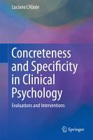 Concreteness and Specificity in Clinical Psychology PDF