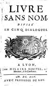 Livre sans nom, divise en 5 dialoques