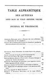 Journal de pharmacie et des sciences accessoires: Volume27