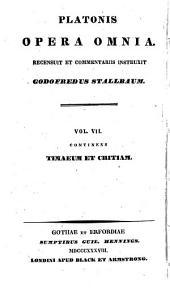 Opera omnia ...: Timaeus et Critias. 1838