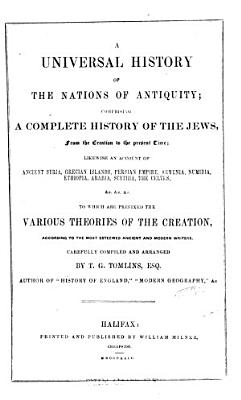 A Universal History of the Nations of Antiquity