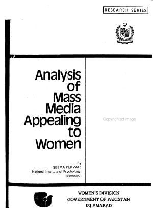 Analysis of Mass Media Appealing to Women