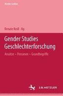 Metzler Lexikon Gender Studies Geschlechterforschung PDF