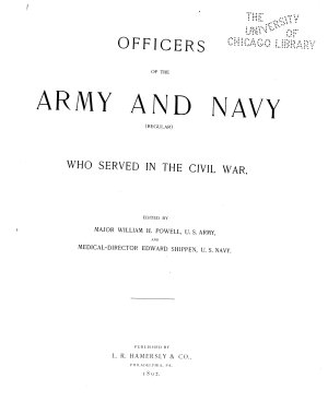 Officers of the Army and Navy  regular  who Served in the Civil War