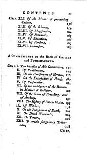 An Essay on Crimes and Punishments: By the Marquis Beccaria of Milan. With a Commentary by M. de Voltaire