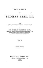 The Works of Thomas Reid: Volume 2